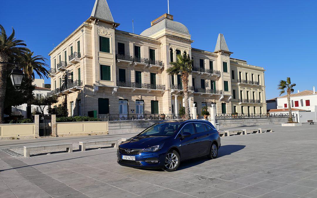 Opel Astra ST diesel 1.5 122 PS: Στις Σπέτσες, στο «απαγορευμένο» νησί για οχήματα