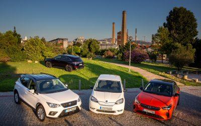 DS 7 Crossback E-Tense 4X4, Opel Corsa-e, Seat Arona TGI, Skoda Citigo eiV: 4