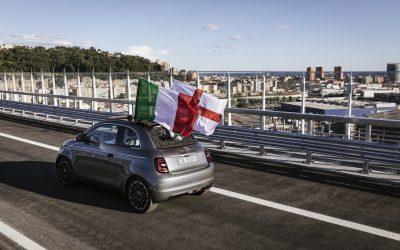 Fiat 500 electric: Εγκαινίασε τη νέα γέφυρα στη Γένοβα