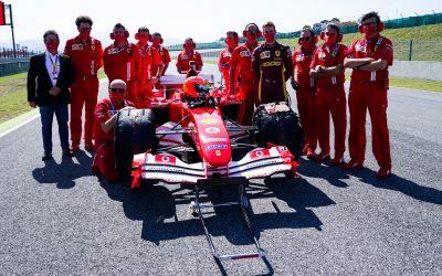 Formula 1, Γκραν Πρι Τοσκάνης, Μουτζέλο: Ο Μικ Σουμάχερ στο τιμόνι της Ferrari F2004 του πατέρα του Μίκαελ