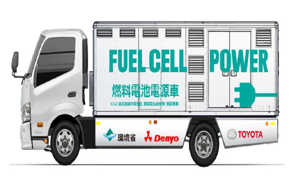 Toyota: Φορτηγό που παρέχει ρεύμα και νερό