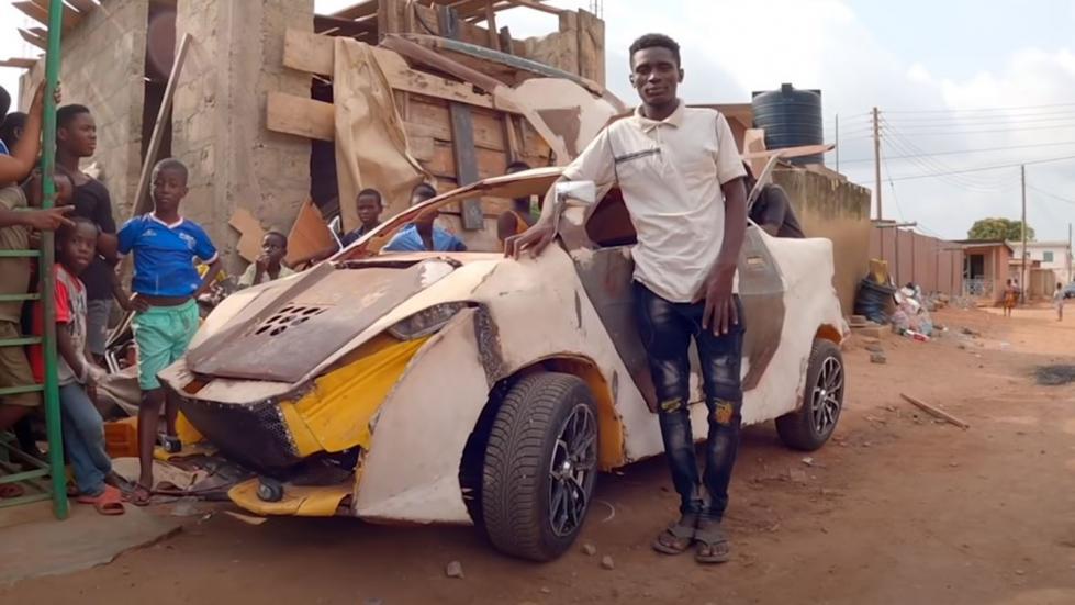 Γκανέζος 18 ετών έφτιαξε μόνος του αμάξι με 165 ευρώ! (+ Video)