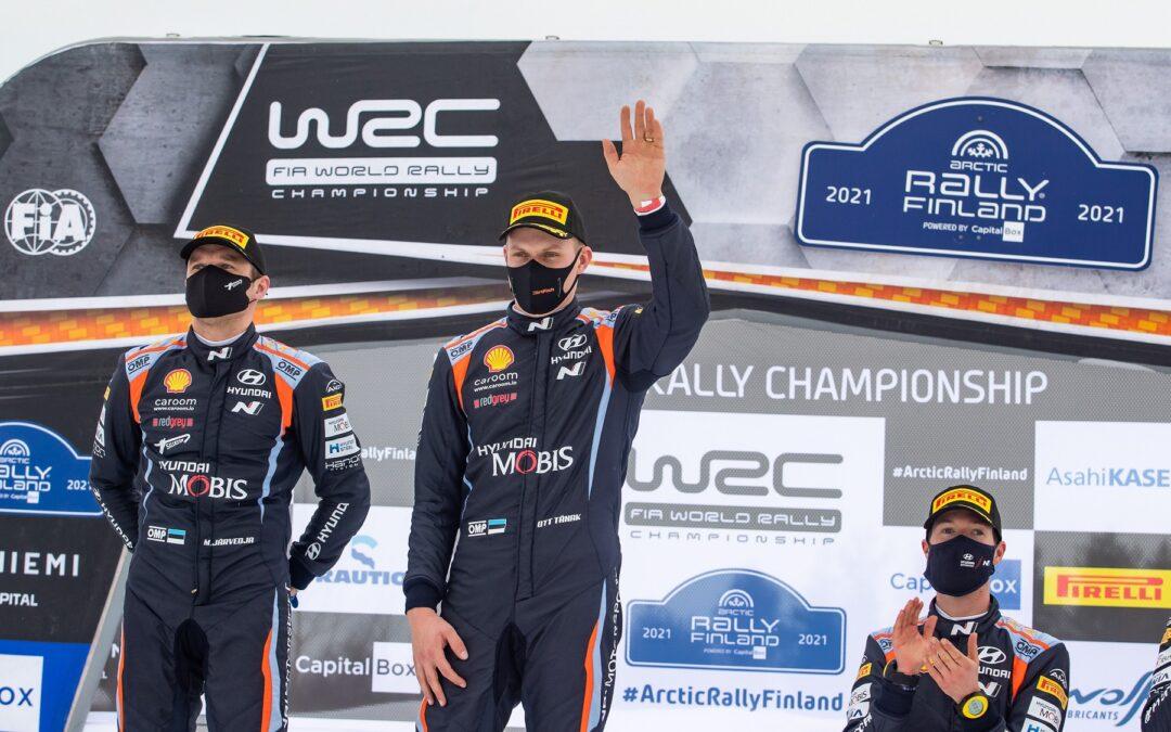 WRC, ράλι Αρκτικής: Νίκη Tanak-Jarveoja-Hyundai