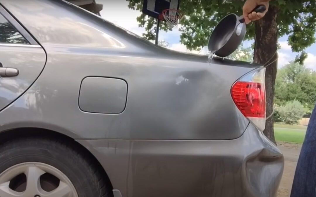 Απίθανο κόλπο για να διορθώσετε μόνοι σας λακκούβες – βαθουλώματα στο αμάξι σας! (Video)