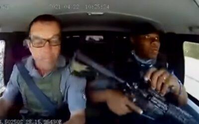 Γαζώνουν χρηματαποστολή εν κινήσει και ο οδηγός της… δεν ίδρωσε! Απίστευτο θέαμα! (Video)