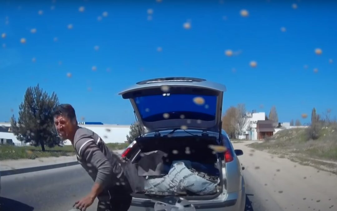 Κατέβηκε για τσαμπουκά και μόλις τον ψέκασαν με σπρέι άρχισε το κλάμα! (Video)