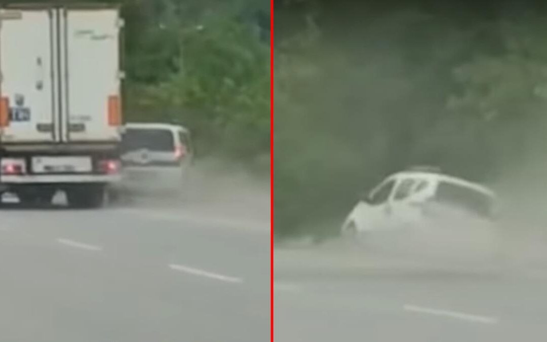 Τσαμπουκαλήδες οδηγοί πάλεψαν με νταλίκα και Fiat! (video)