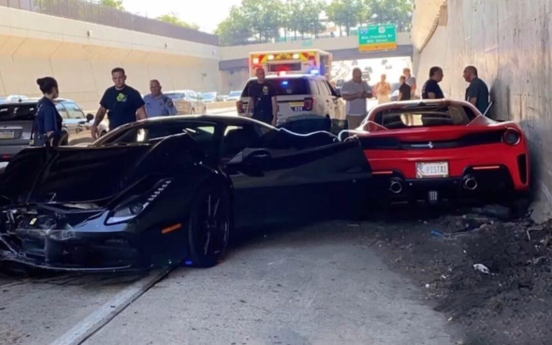 Τρεις Ferrari τρακάρουν μεταξύ τους (video)