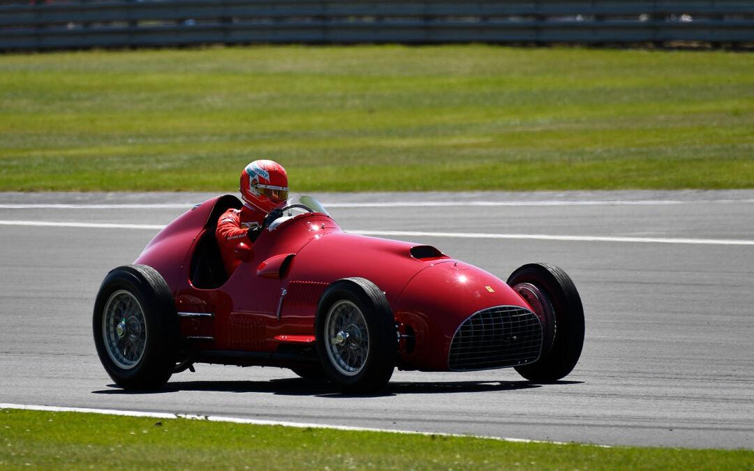 Ο Leclerc και η 375, η πρώτη Ferrari που κέρδισε ποτέ στη Formula 1