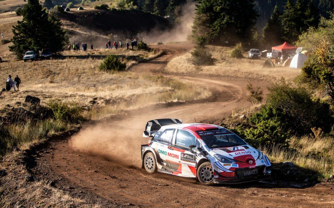 Αυλαία για 2η μέρα του ΕΚΟ Ράλλυ Ακρόπολις! Ο Ροβανπέρα με Yaris WRC διατήρησε το προβάδισμα του