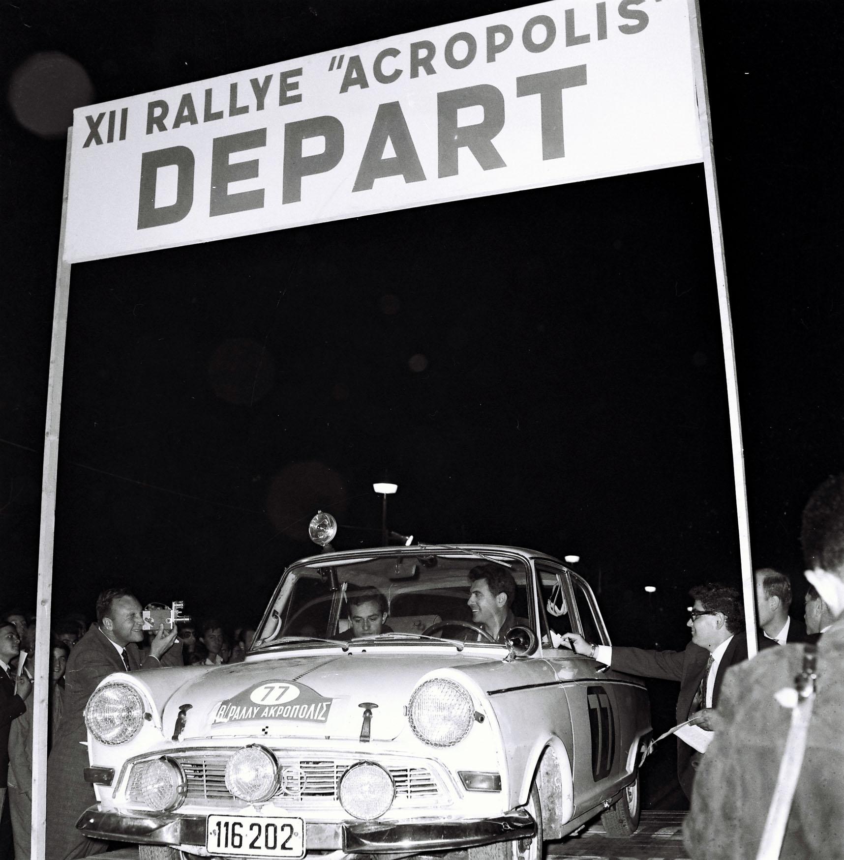 Γιώργος Ραπτόπουλος με DKW στο Ράλλυ Ακρόπολις του 1966
