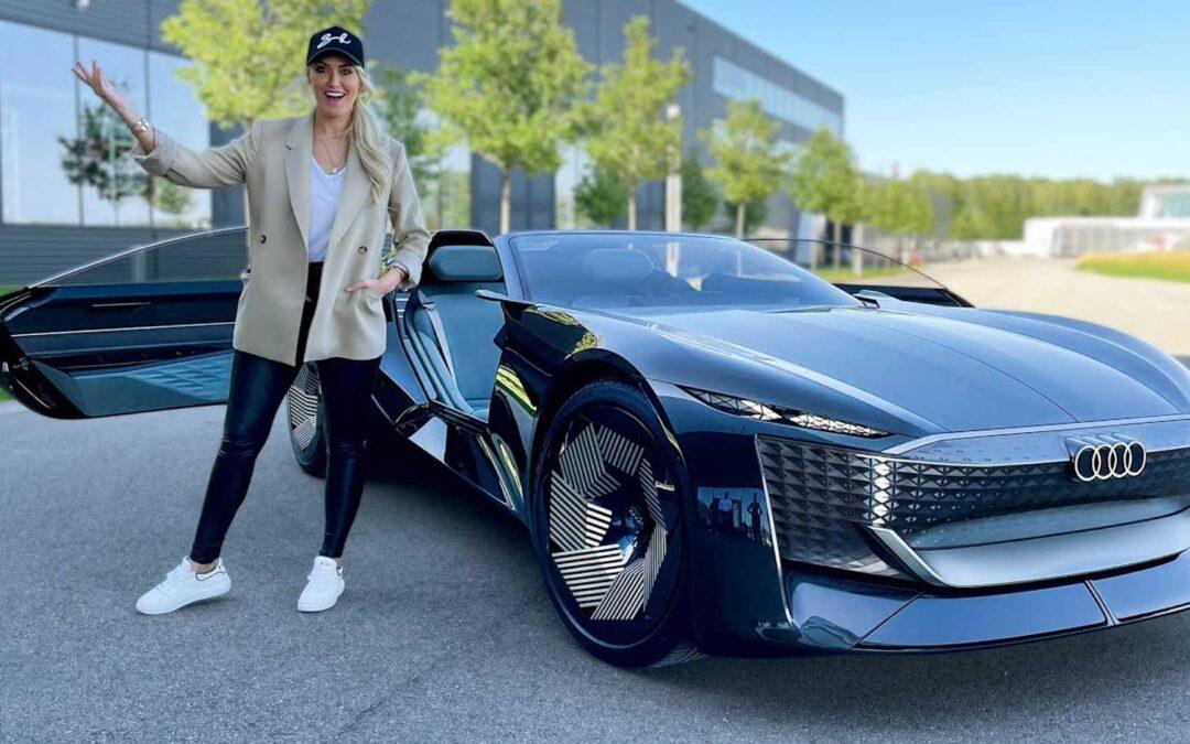 Η Supercar Blondie οδηγεί το Audi Skysphere (video)